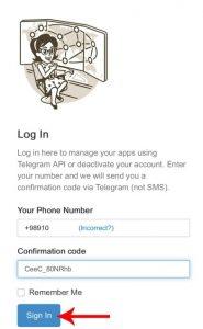 غیرفعال کردن اکانت تلگرامی