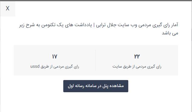 آمار مردمی جشنواره وب